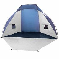 Tahoe Gear Cruz Bay Summer Sun Shelter and Beach Shade Tent Canopy, Blue & White