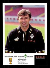Klaus Allofs Autogrammkarte Werder Bremen 1999-00 Original + A 157308