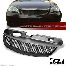 FOR 2004-2005 HONDA CIVIC JDM MATTE BLACK R-MESH FRONT BUMPER GRILL GRILLE ABS