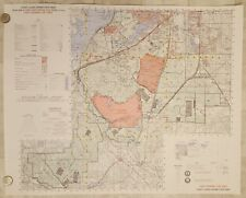 Fort Lewis JBLM Tacoma Washington Military Army Topo Poster Color  Map 24x30