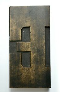 Large Wooden Letterpress Poster Printing Block, Letter E, 15.2cm