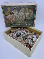 Boyhood Of Raleigh The Zig Zag Puzzle Vintage Wooden Jigsaw COMPLETE J.E.Millais