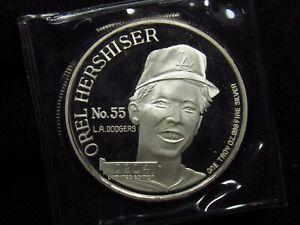 Orel Hershiser 1988 Cy Young Award Winner 1 Oz .999 Fine Silver Round