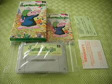 LEMMINGS SUNSOFT SFC SUPER FAMICOM JAPAN IMPORT MINT COMPLETE IN BOX!