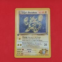 Lt. Surge's Electabuzz 27/132 1st Edition Gym Heroes Rare WOTC Pokemon Card