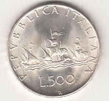 ITALIA LIRE 500 ARGENTO SILVER CARAVELLE  SPLENDIDA 1959 PREZZO REGALO