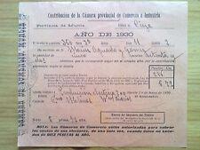DOCUMENTO CONTRIBUCION MUNICIPAL ALICANTE.MONOVAR AÑO 1941.