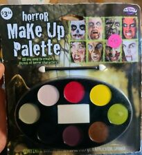 Horror Makeup Palette Multi Color with Applicator and Sponge Fun World Halloween
