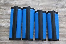 Fly Protection Leg Wraps/Leggings For Horses, TAPERED Fly Boots  Set Of 4,Blue