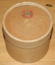 Vintage 1932 Sealright Sanitary Service Cardboard Tube Round Box