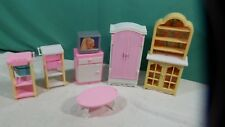 Lot of 7 Pieces  Barbie Doll House Furniture  .