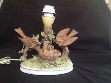 antique Lampfoot. German Figurine BIRDS Nest