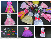 1 x BARBIE SINDY DOLL SHORT PARTY FAIRY DRESS GOWN & 1 PAIR SHOES BOOTS UKSELLER
