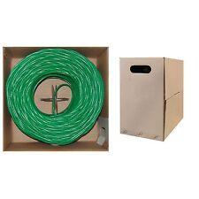 1000 ft CAT5E  UTP Bulk Cable, Stranded, 350MHz, 24 AWG   Green 10X6-051SH