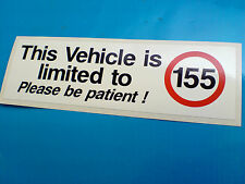THIS VEHICLE IS LIMITED TO 155 Van Car Bumper Sticker Decal 1 off 150mm