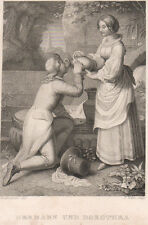 Hermann e Dorotea, 1850 acquaforte