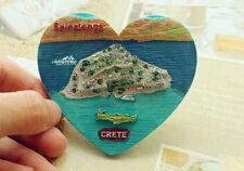 Griechenland Crete Reiseandenken Souvenir Herzförmig 3D Kühlschrankmagnet Magnet