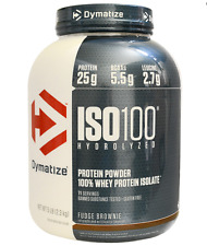 NEW DYMATIZE NUTRITION ISO100 HYDROLYZED 100% WHEY PROTEIN ISOLATE FUDGE BROWNIE
