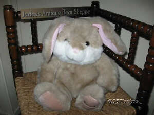 Harrods Knightsbridge UK Brown Easter Bunny Rabbit Plush 16 inch