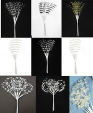 PEARL or CRYSTAL SPRAY X 12 STEMS  IDEAL FOR CRAFTS, WEDDING FLOWERS, BOUQUETS