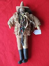 NATIVE AMERICAN MALE INDIAN BEADED DOLL UNIQUE LEATHER BEADED  DOLL,   DU-00049