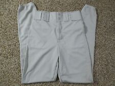 NEW BASEBALL PANTS AUGUSTA SPORTSWEAR ELASTIC ANKLE SOLID GRAY SIZE ADULT SMALL