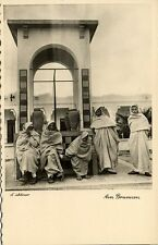 libya, Native Arab Men at the Fountain (1940s) H. Schlösser Photo