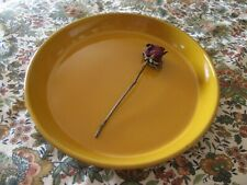 Pottery Barn Large Round Golden Yellow Platter, Serving Dish, Made in Portugal