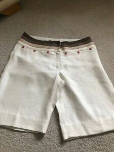 Principles Size 12 100% Linen  Smart Natural Mix Shorts