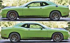 2X Dodge Challenger Scat Pack Rocker Panel decals Stripe Vinyl Graphics