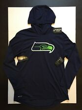 Nike Seattle Seahawks Blend Hoodie Long Sleeve T-Shirts 17 Navy Size L*