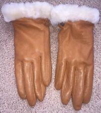 UGG® Australia 'Fashion Shorty' Glove- Small-Brown Leather