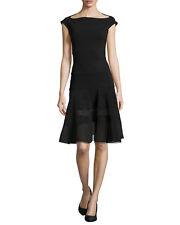 $795 LA PETITE ROBE di CHIARA BONI ORLANDA ILLUSION DRESS  - NWT SZ 8/44