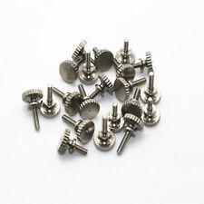 5Pcs M2 brass nickel plating hand twist screws knurled head screw bolts 5-8mm L