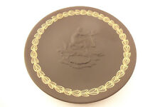 Vintage Wedgwood Jasperware Made in England Black Gold Mother's Day Plate