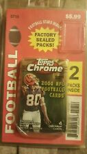 00 Topps Chrome Football (2)pack blister package