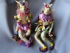 Katherine's Collection boy&girl Flying Fairy rabbit dolls by Wayne Kleski