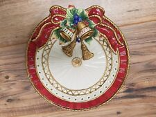 Fitz and Floyd Classics Christmas Holidays 9� Rare Wall hanging Collector Plate.