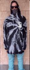 """Akrynm Tall """"Bleach Tie Dye"""" Hoodie XLT - Black Ski / Snowboard Hoodie"""