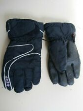 Alpine Kids 7-10 Years Navy Blue Ski Winter Sports Fleece Lined Gloves Snowboard