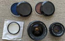 2 Lenses - Canon 28-90, 1:4-5.6, Olympus Zuiko 1:1.8 - 3 Filters