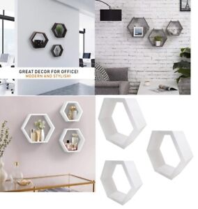 Set of 3 Floating Wall Shelves Picture Ledge Display Rack Book Hanging Shelf New
