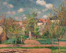 Garden in Full Sunlight  by Camille Pissarro 60cm x 48cm Art Paper Print