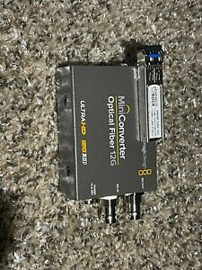 Blackmagic Design Mini Converter Optical Fiber 12G + Shield Rock 12G Transceiver