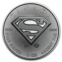 2016 ~ 1~OZ ~ 9999 SILVER ~ SUPERMAN SHIELD  COIN ~ ROYAL CANADIAN MINT ~ $37.88