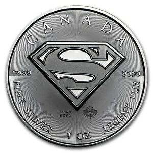 2016 - 1 -OZ - 9999 SILVER ~ SUPERMAN SHIELD  COIN - ROYAL CANADIAN MINT - $9.99