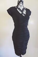 BOSTON PROPER Slim & Shape Ruched Little Black Dress - Size 4 - $109 - NWT