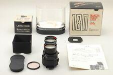 Rare MINT Mamiya Sekor Super 180mm f/4.5 TLR Telephoto Lens with Hood Boxed Set