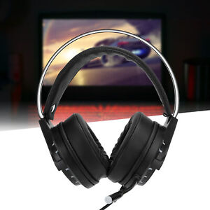 LED Light Gamer Headset For Computer Gaming Headphones Bass Stereo Wired Headset