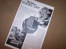 VIKING SHIP model boat model plans